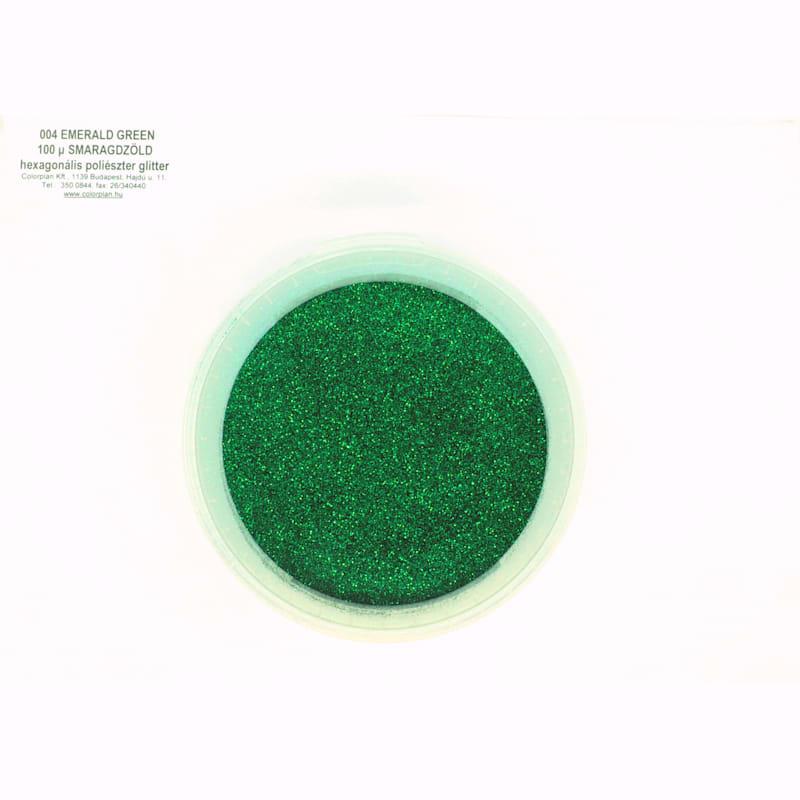 Glitter smaragd zöld 004' 100 mikronos szemcseméret