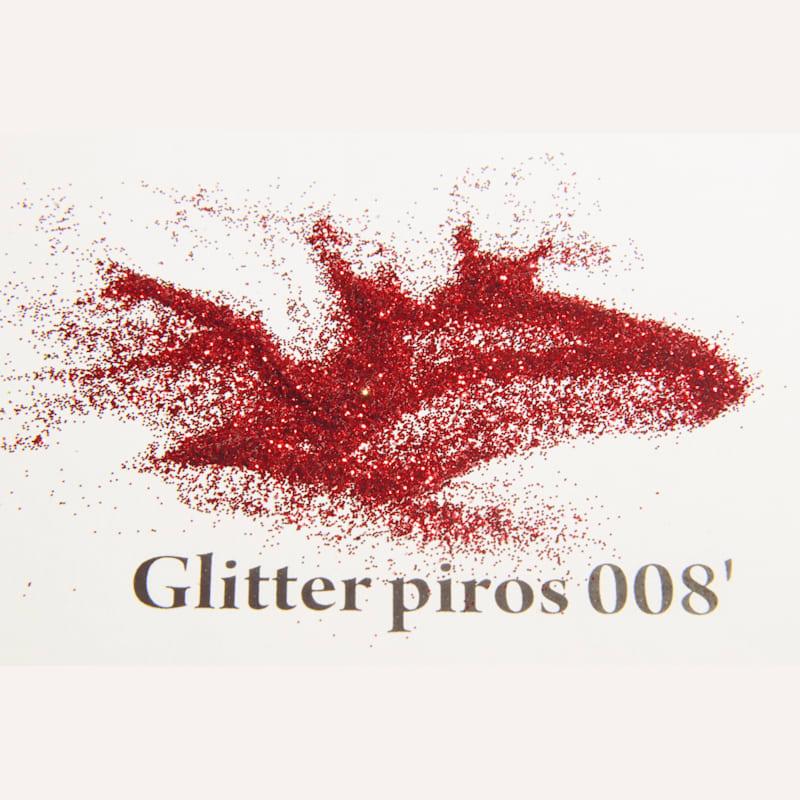 Glitter piros 008' 200 mikronos szemcseméret