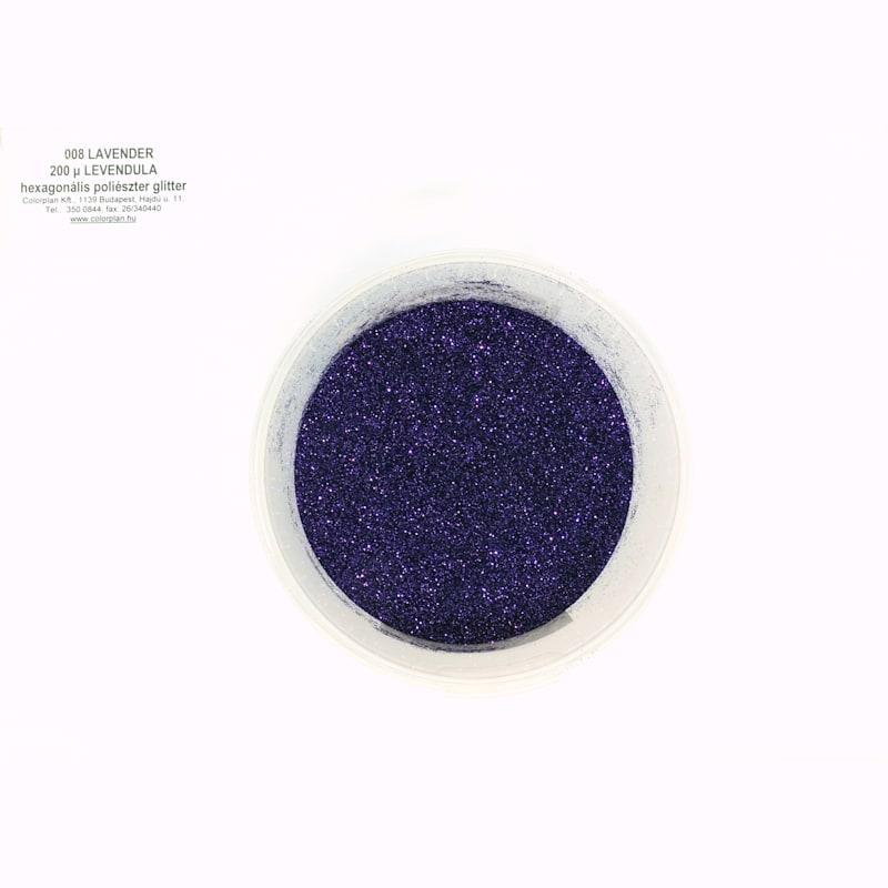 Glitter levendula 008' 200 mikronos szemcseméret 38