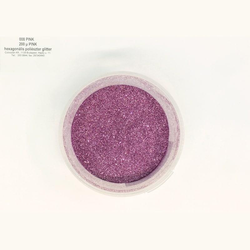 Glitter pink 008' 200 mikronos szemcseméret 41