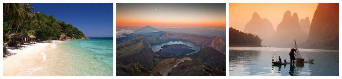Meer, Vulkan, Karstberge