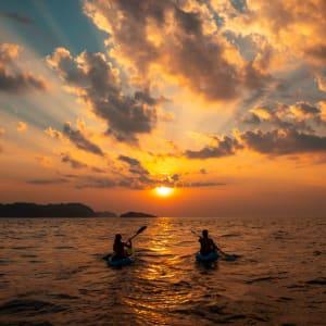 Awei Pila Resort in Mergui Archipel: Canoe