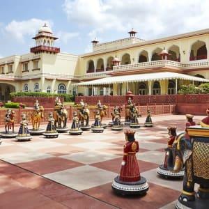 Jai Mahal Palace in Jaipur:  Chessboard
