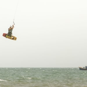 Blue Ocean Resort à Phan Thiet: Kite Surfing