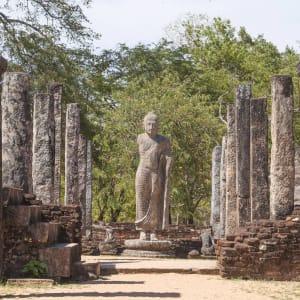 L'Est du Sri Lanka en été de Colombo: Atadage, ancient city of Polonnaruwa