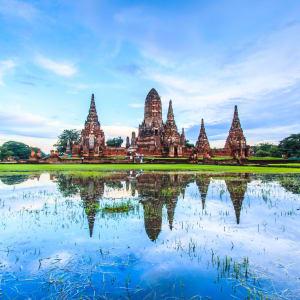 Les hauts lieux de la Thaïlande de Bangkok: Ayutthaya: Old Temple Wat Chaiwatthanaram