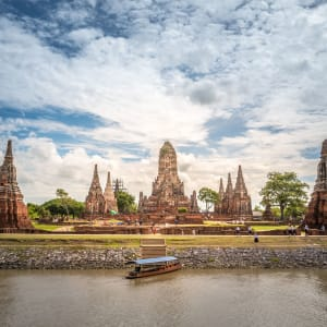 Ayutthaya avec bâteau «White Orchid» - SIC à Bangkok: Ayutthaya Wat Chai Wattanaram