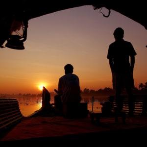 Backwaters von Kerala ab Kochi: Backwaters: Sunset