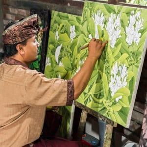 Artistes & artisans à Ubud: Bali Ubud Artist in work