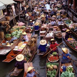 Circuit au sud de la Thaïlande avec Elephant Hills Camp de Bangkok: Bangkok: Damnoen Saduak Floating Market