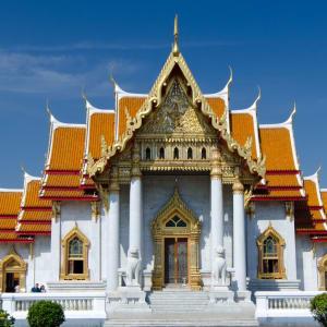 Vieille ville et temples à Bangkok: Bangkok Wat Benjamaborpitr Marble Temple