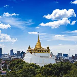 Altstadt und Tempel in Bangkok: Bangkok Wat Saket (Golden Mount)