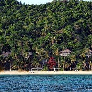 El Nido Resorts Pangulasian Island in Palawan: Beach and Canopy Villa Facade