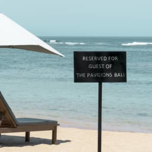 The Pavilions Bali in Südbali: beach area at nearby Sanur Beach