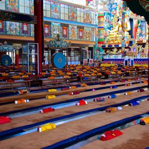 Le sud diversifié de l'Inde de Kochi: Bylekuppe: Tibetan Monastery