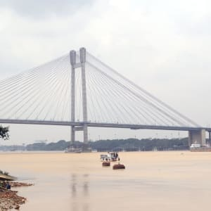 Tour de ville de Kolkata: CCU Bridge over Hooghly River