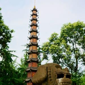 Avec le train du Tibet sur le toit du monde de Pékin: Chengdu Wenshu Monastery