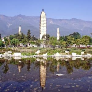 Circuit spectaculaire du Yunnan au Tibet de Kunming: Dali Three Pagoda Temple