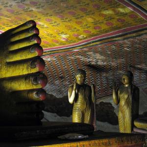 Les hauts lieux du Sri Lanka de Colombo: Dambulla: Cave Tempel