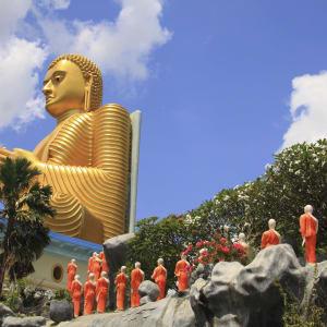 L'Est du Sri Lanka en été de Colombo: Dambulla Golden Buddha