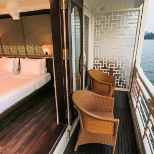 Halong Bucht Kreuzfahrten mit «The Au Co» ab Hanoi: Deluxe Executive - Balcony