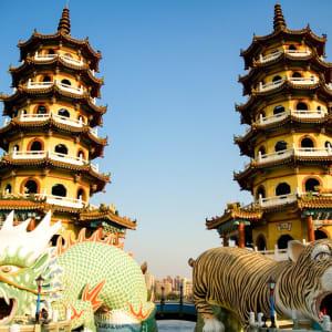 Les hauts lieux de Taïwan de Taipei: Dragon Tiger Towers
