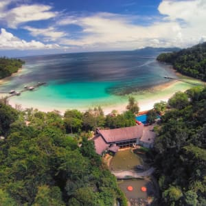 Bungaraya Island Resort in Kota Kinabalu: Aerial View