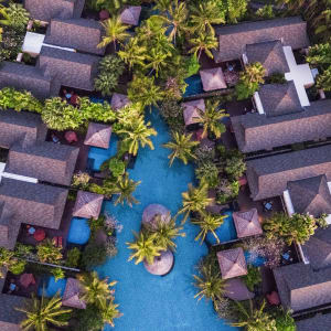 The St. Regis Bali Resort à Sud de Bali: Aerial Villas and Lagoon
