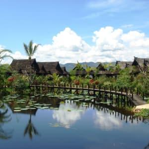 Inle Princess Resort in Inle Lake: Back of Lake Front View