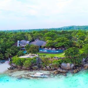 Amorita Resort in Bohol: Cliffdeck from the air