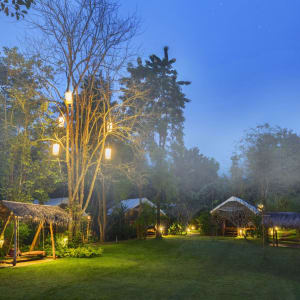 River Kwai Soft Adventure & Expérience avec les éléphants de Bangkok: exterior: Garden