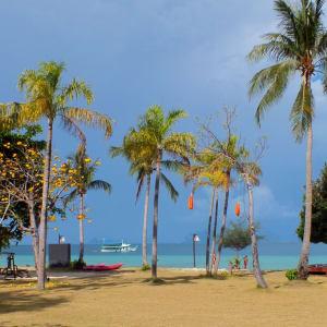 Thanya Resort in Ko Ngai: Garden and Beach