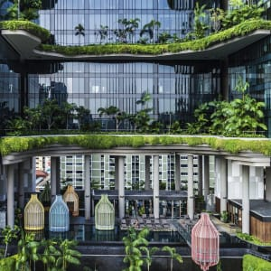 Parkroyal Collection Pickering in Singapur:  Infinity Pool and Bird-Cage Cabanas
