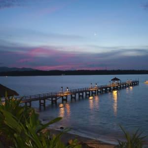 The Oberoi Beach Resort, Lombok:  Jetty at night