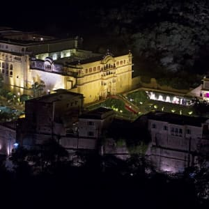 Samode Palace in Jaipur: opinion: Night View of Palace