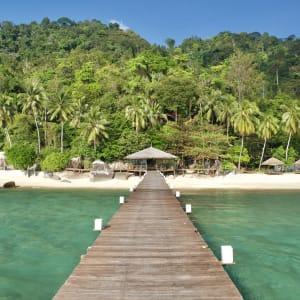 JapaMala Resort in Tioman:  pier