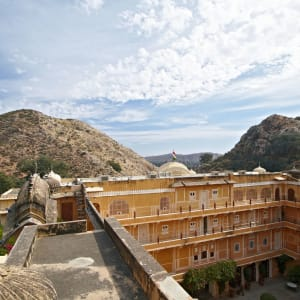 Samode Palace in Jaipur: View from above