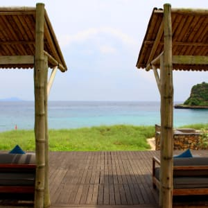 Jeeva Beloam Beach Camp in Lombok: View from Terrace