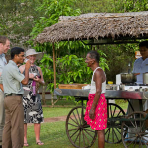 Marari Beach Resort in Mararikulam: Afternoon Chai in the Garden