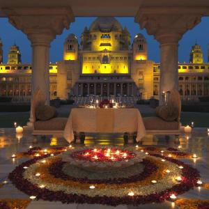Umaid Bhawan Palace à Jodhpur: Baradari Dining