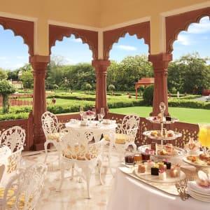 Jai Mahal Palace in Jaipur:  Baradari High Tea