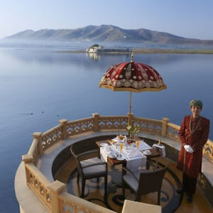 The Leela Palace à Udaipur: champagne breakfast