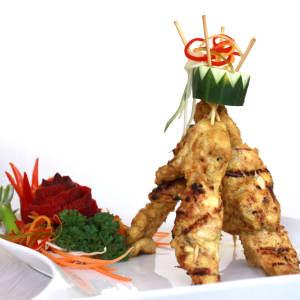 Mahamaya in Gili: Chicken satay