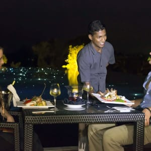 Aliya Resort & Spa in Sigiriya: Dining on pool deck