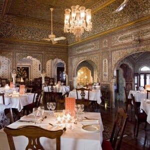 Samode Haveli in Jaipur: Dining room