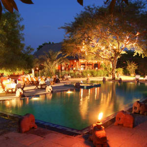 The Hotel @ Tharabar Gate in Bagan: Dinner at Pool Side