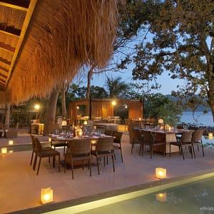 El Nido Resorts Pangulasian Island in Palawan: Dinner Set-up