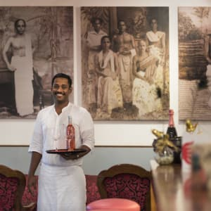The Malabar House in Kochi:  divine the wine lounge