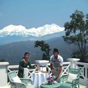 Glenburn Tea Estate in Darjeeling: Glenburn Tea Estate View from Terrace of Water Lily Bungalow