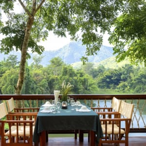 River Kwai Soft Adventure & Elefanten Erlebnis ab Bangkok: f&b: Hin Tok River Camp Restaurant